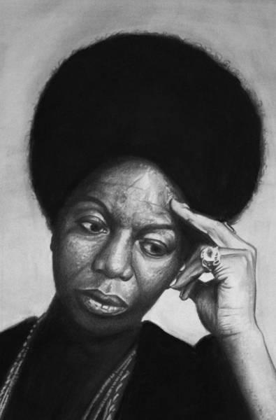 Nina Simone Wall Art - Drawing - Nina Simone by Steve Hunter