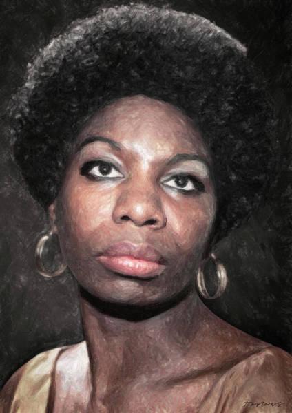 Painting - Nina Simone by Zapista Zapista
