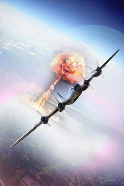 Nuclear Bomber Wall Art - Digital Art - Nine Miles Down Range by Peter Chilelli