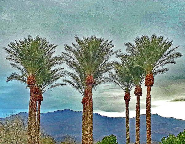 Digital Art - Nine  Palms  Over  Sheep  Range by Carl Deaville