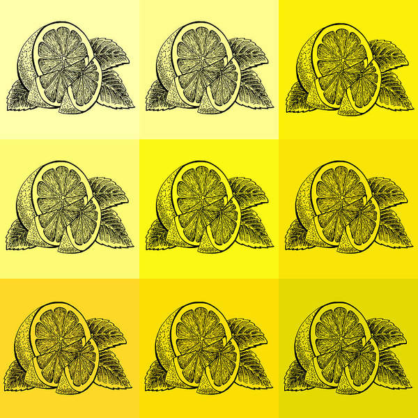 Wall Art - Painting - Nine Shades Of Lemon by Irina Sztukowski
