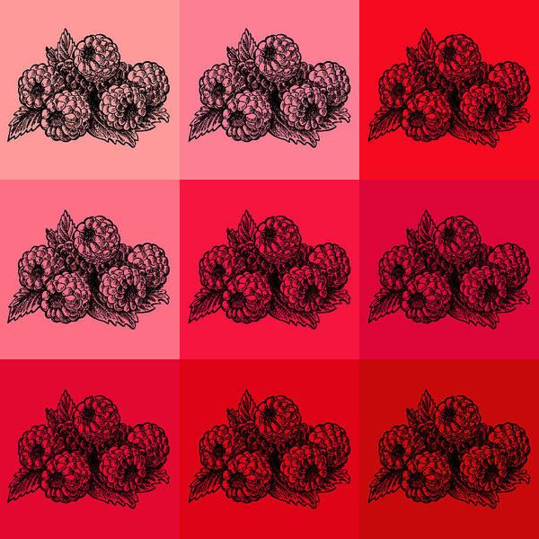 Wall Art - Painting - Nine Shades Of Raspberries by Irina Sztukowski