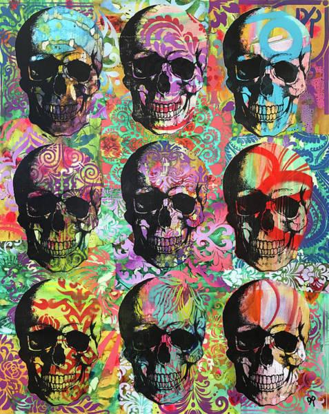 Painting - Nine Skulls by Dean Russo Art