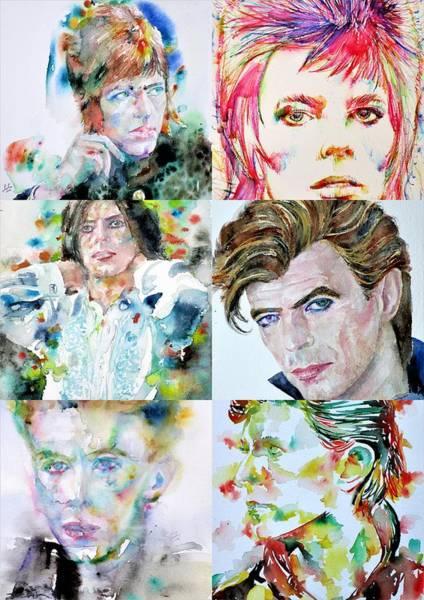 David Bowie Painting - Nine Times David Bowie by Fabrizio Cassetta