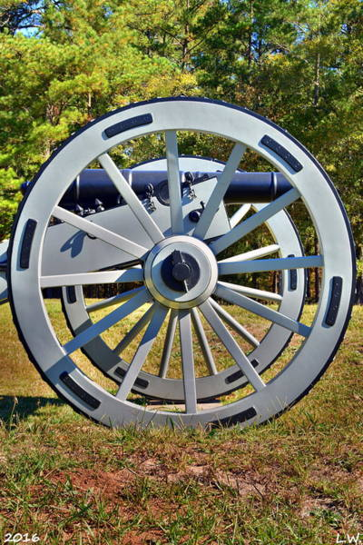Photograph - Ninety Six National Historic Site Cannon Wheel by Lisa Wooten