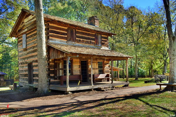Photograph - Ninety Six National Historic Site Log Cabin by Lisa Wooten