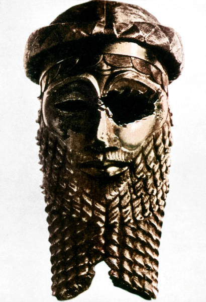 Photograph - Nineveh: Bronze Head by Granger