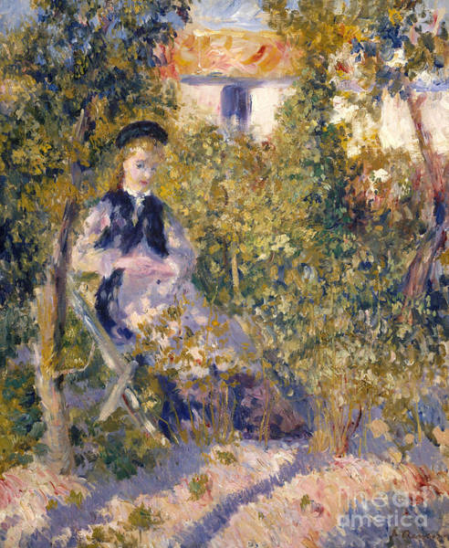 Dappled Light Painting - Nini In The Garden, 1876 by Pierre Auguste Renoir