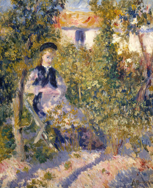 Painting - Nini In The Garden  by Auguste Renoir