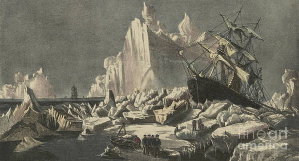 Wall Art - Painting - Nipped In The Ice by Currier and Ives
