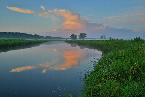 Photograph - Nippersink Creek Reflection At Sunrise In Glacial Park by Ray Mathis