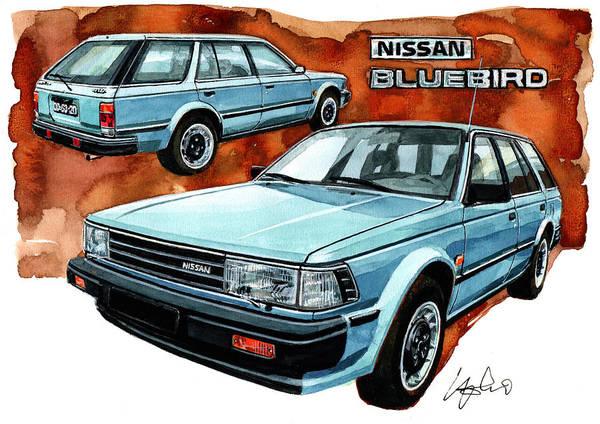 Wall Art - Painting - Nissan Bluebird Sw by Yoshiharu Miyakawa