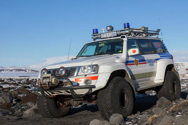 Photograph - Nissan Patrol Iceland Police by Arterra Picture Library