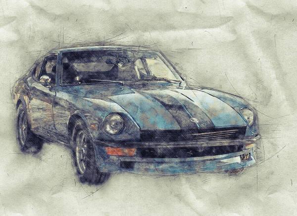 Wall Art - Mixed Media - Nissan S130 - Datsun 280zx - Nissan Fairlady Z 1 - Automotive Art - Car Posters by Studio Grafiikka