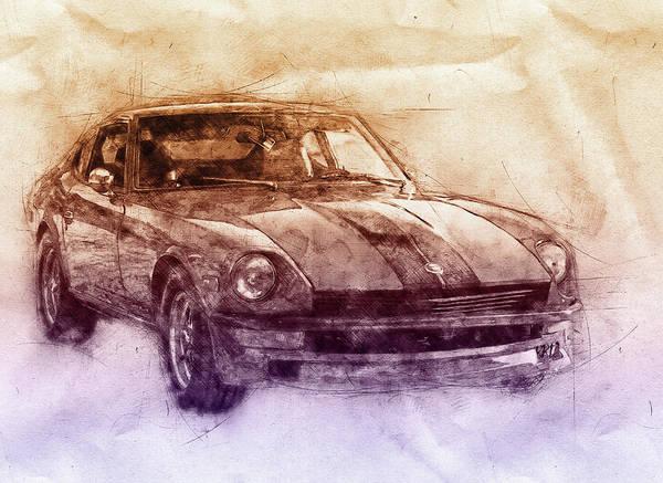 Wall Art - Mixed Media - Nissan S130 - Datsun 280zx - Nissan Fairlady Z 2 - Automotive Art - Car Posters by Studio Grafiikka