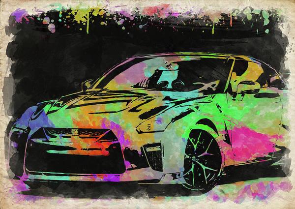Wall Art - Photograph - Nissan Skyline Gtr Watercolor II by Ricky Barnard