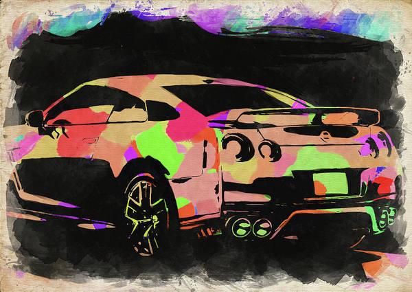 Wall Art - Photograph - Nissan Skyline Gtr Watercolor by Ricky Barnard