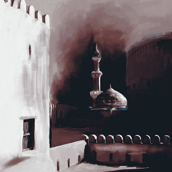 Wall Art - Painting - Nizwa Fort's Mosque 678 2 by Mawra Tahreem