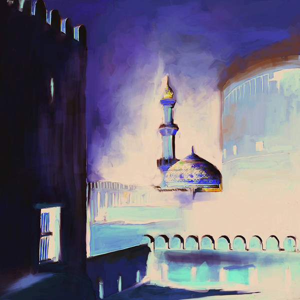 Wall Art - Painting - Nizwa Fort's Mosque 678 3 by Mawra Tahreem