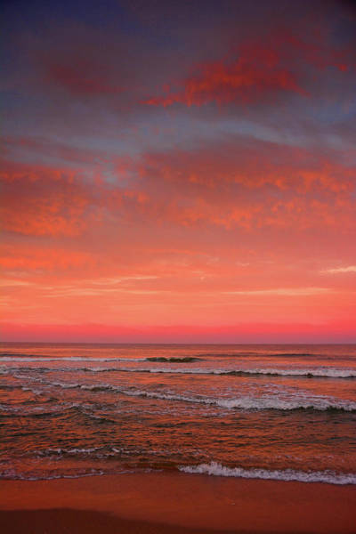 Photograph - Nj Beach Sunset 3 by Raymond Salani III