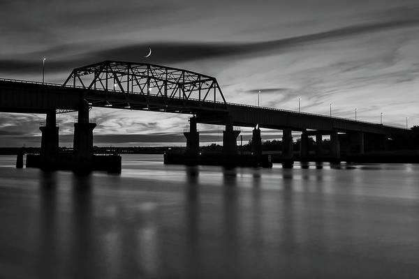 Photograph - Nj Meadowlands Sunset Bw by Susan Candelario