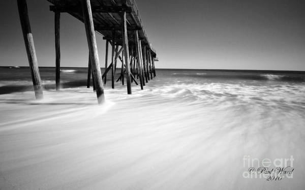 Wall Art - Photograph - Nj Shore In Black And White by Paul Ward