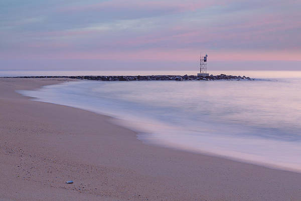 Photograph - Nj Shore Jetty First Light by Susan Candelario