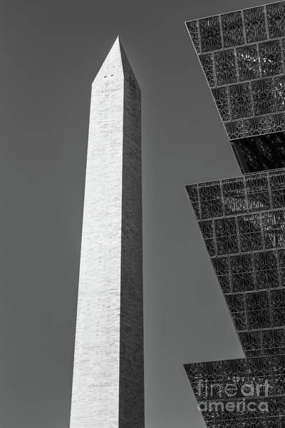 African American Museum Photograph - Nmaahc And Washington Monument II by Clarence Holmes