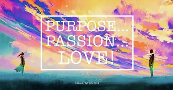 Love Mixed Media - Purpose Passion Love - Quote by In My Click Photography