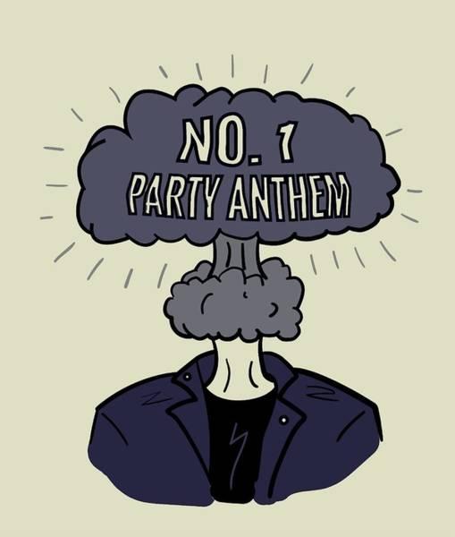 Heartbroken Digital Art - No 1. Party Anthem Blue by Pauliebre