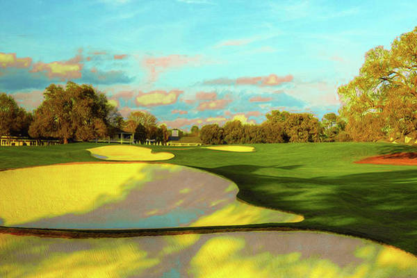 Lpga Digital Art - No. 18 Holly 465 Yards Par 4 by Don Kuing