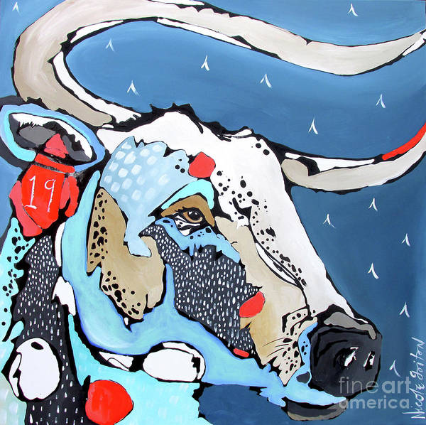 Painting - No. 19 Longhorn by Nicole Gaitan