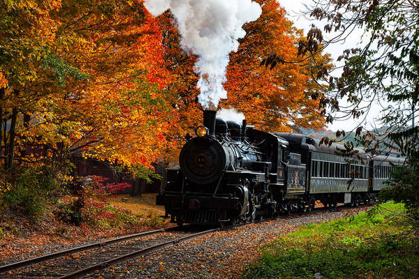 Photograph - No. 40 Passing The Fall Colors by Jeff Folger