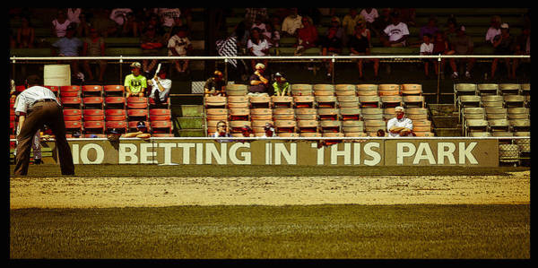 Photograph - No Betting Poster by Just Birmingham