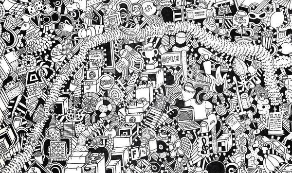 Wall Art - Drawing - No Boundaries by Chelsea Geldean