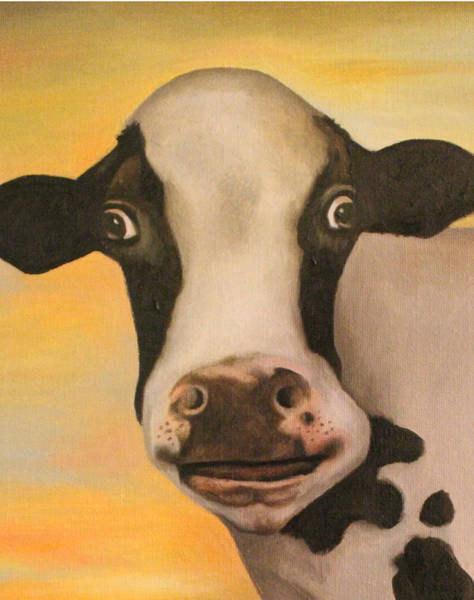 Wall Art - Painting - No Bull Detail 2 by Leah Saulnier The Painting Maniac