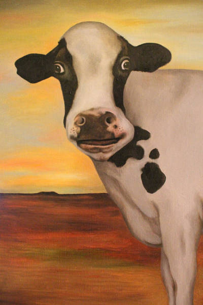 Wall Art - Painting - No Bull Detail by Leah Saulnier The Painting Maniac