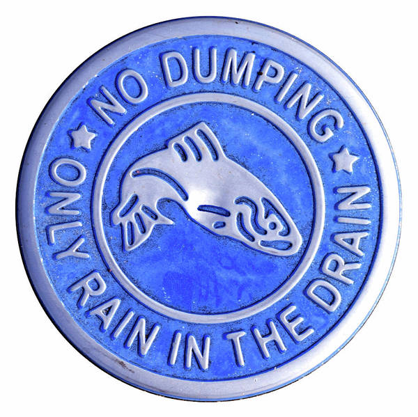 Storm Drain Photograph - No Dumping by Pat Turner