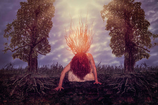 Digital Art - No Earthly Roots by Nicole Wilde