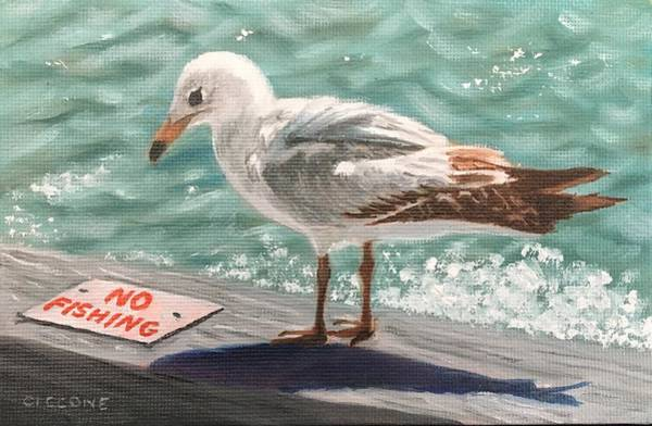 Painting - No Fishing by Jill Ciccone Pike