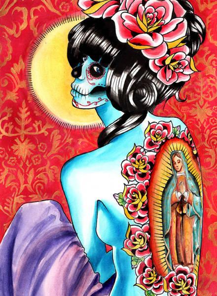 Tattoo Flash Painting - No Hard Feelings by Carissa Rose Stevens