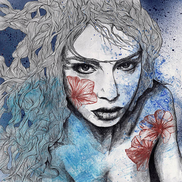 Beautiful Girl Drawing - No Hope In Sight by Marco Paludet