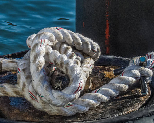 Photograph - Ship Rope by Patti Deters