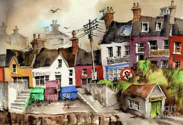 Painting - No Litter In Baltimore, Cork ...x117 by Val Byrne