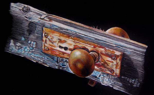 Rust Drawing - No Longer Useful For Its Intended Purpose by Jean Cormier
