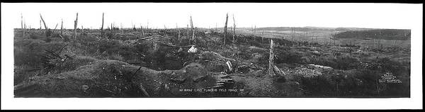 Photograph - No Mans Land Flanders Fields W.l. King Photo France 1917-2016 by David Lee Guss