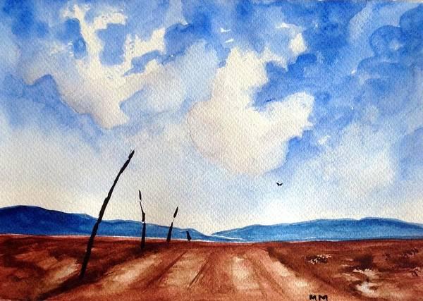 Desolation Painting - No Man's Land by Martine Murphy