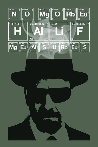 Bryan Painting - No More Half Measures - Breaking Bad Poster Walter White Quote by Beautify My Walls