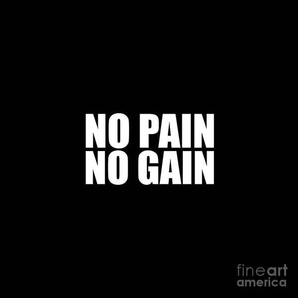 I Phone Case Mixed Media - No Pain No Gain by Maria Christi