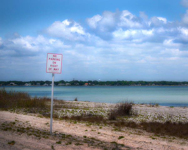 Photograph - No Parking by Judy Hall-Folde